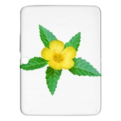 Yellow Flower With Leaves Photo Samsung Galaxy Tab 3 (10 1 ) P5200 Hardshell Case