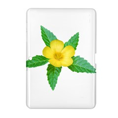 Yellow Flower With Leaves Photo Samsung Galaxy Tab 2 (10.1 ) P5100 Hardshell Case