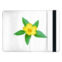 Yellow Flower With Leaves Photo Samsung Galaxy Tab Pro 12.2  Flip Case