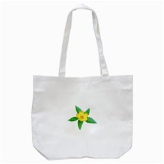 Yellow Flower With Leaves Photo Tote Bag (White)