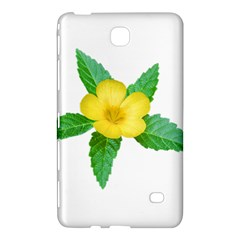 Yellow Flower With Leaves Photo Samsung Galaxy Tab 4 (8 ) Hardshell Case