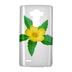 Yellow Flower With Leaves Photo LG G4 Hardshell Case
