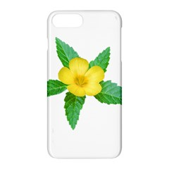 Yellow Flower With Leaves Photo Apple Iphone 7 Plus Hardshell Case