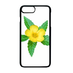 Yellow Flower With Leaves Photo Apple iPhone 7 Plus Seamless Case (Black)