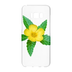 Yellow Flower With Leaves Photo Samsung Galaxy S8 Hardshell Case