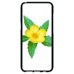 Yellow Flower With Leaves Photo Samsung Galaxy S8 Black Seamless Case