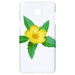 Yellow Flower With Leaves Photo Samsung C9 Pro Hardshell Case