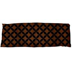 Cir3 Bk Mrbl Br Wood (r) Body Pillow Case (dakimakura)