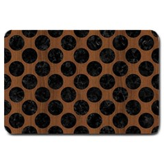 Cir2 Bk Mrbl Br Wood (r) Large Doormat