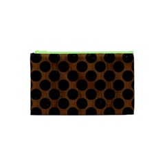 CIR2 BK-MRBL BR-WOOD (R) Cosmetic Bag (XS)