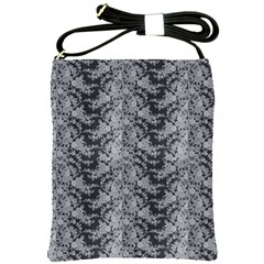 Black Floral Lace Pattern Shoulder Sling Bags