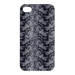 Black Floral Lace Pattern Apple Iphone 4/4s Hardshell Case