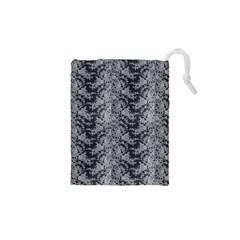 Black Floral Lace Pattern Drawstring Pouches (xs)