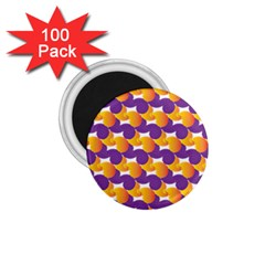 Purple And Yellow Abstract Pattern 1 75  Magnets (100 Pack)