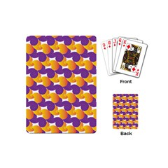 Purple And Yellow Abstract Pattern Playing Cards (mini)