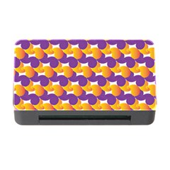 Purple And Yellow Abstract Pattern Memory Card Reader With Cf
