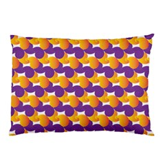 Purple And Yellow Abstract Pattern Pillow Case (two Sides)
