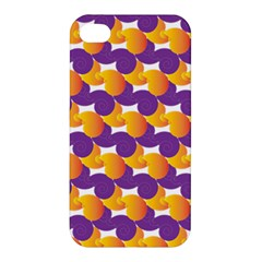 Purple And Yellow Abstract Pattern Apple Iphone 4/4s Hardshell Case