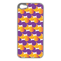 Purple And Yellow Abstract Pattern Apple Iphone 5 Case (silver)
