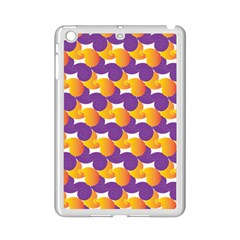 purple and yellow Abstract pattern iPad Mini 2 Enamel Coated Cases