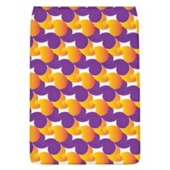 purple and yellow Abstract pattern Flap Covers (L)