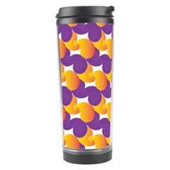 purple and yellow Abstract pattern Travel Tumbler