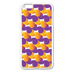 Purple And Yellow Abstract Pattern Apple Iphone 6 Plus/6s Plus Enamel White Case