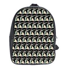Colorful Pop Art Monkey Pattern School Bags(large)