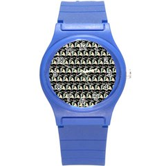 Colorful Pop Art Monkey Pattern Round Plastic Sport Watch (s)