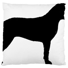 Bullmastiff Silo Black Large Flano Cushion Case (two Sides)