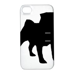 Pug Silo Black Apple Iphone 4/4s Hardshell Case With Stand