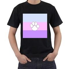 Furry Feline Men s T Shirt (black) (two Sided)