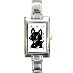 Cane Corso Cartoon Rectangle Italian Charm Watch