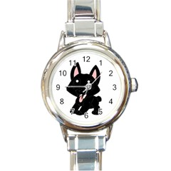 Cane Corso Cartoon Round Italian Charm Watch