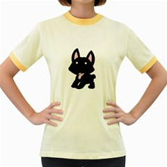 Cane Corso Cartoon Women s Fitted Ringer T-Shirts