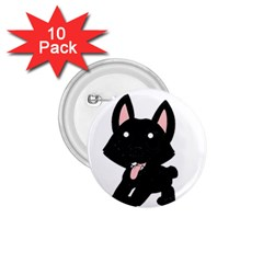 Cane Corso Cartoon 1.75  Buttons (10 pack)