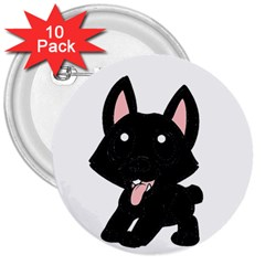 Cane Corso Cartoon 3  Buttons (10 Pack)