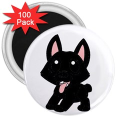 Cane Corso Cartoon 3  Magnets (100 Pack)