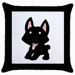 Cane Corso Cartoon Throw Pillow Case (black)
