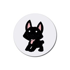 Cane Corso Cartoon Rubber Round Coaster (4 pack)