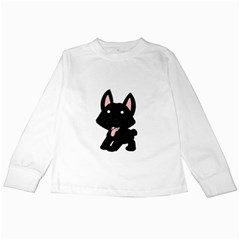 Cane Corso Cartoon Kids Long Sleeve T-Shirts