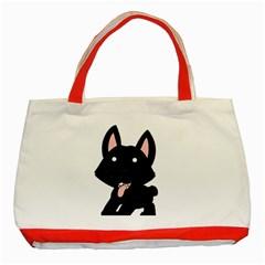 Cane Corso Cartoon Classic Tote Bag (Red)