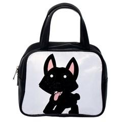 Cane Corso Cartoon Classic Handbags (One Side)