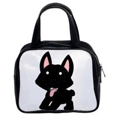 Cane Corso Cartoon Classic Handbags (2 Sides)
