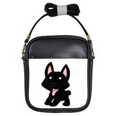 Cane Corso Cartoon Girls Sling Bags