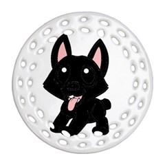Cane Corso Cartoon Ornament (Round Filigree)
