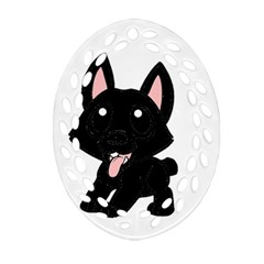 Cane Corso Cartoon Ornament (Oval Filigree)