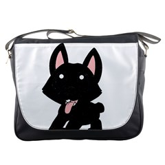 Cane Corso Cartoon Messenger Bags