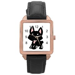 Cane Corso Cartoon Rose Gold Leather Watch