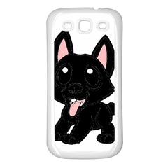 Cane Corso Cartoon Samsung Galaxy S3 Back Case (White)